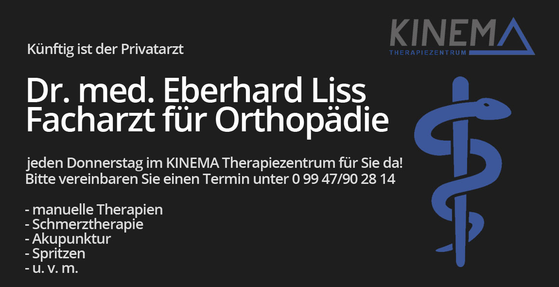 Privatarzt Dr. med. Eberhard Liss im KINEMA Therapiezentrum
